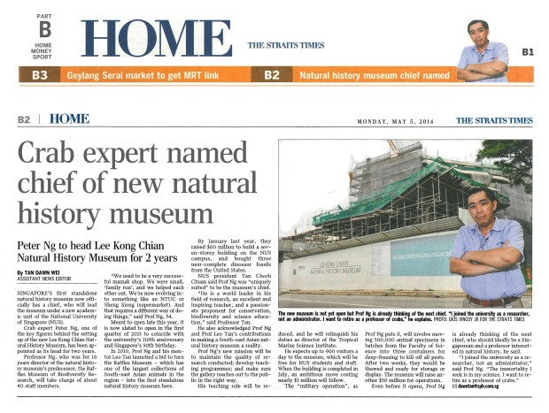 Tan_2014_Crab expert named chief of new natural history museum (small) [OCR]