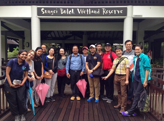Here are our participants, healthier and happier, after the nature walk. Photo by Marcus Chua.