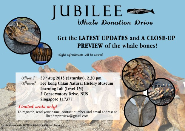 LKCNHM Jubilee whale donation drive ad ls