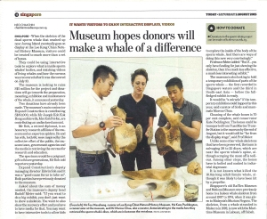 Today 01082015 Museum hopes donors will make a whale of a difference